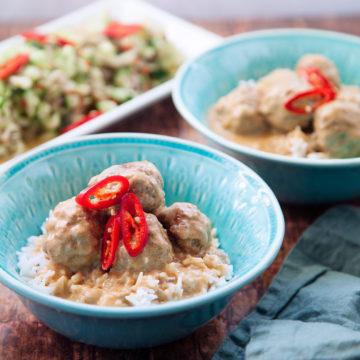 Thaibullar i kokosmjolk