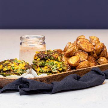 Broccoli-och-majsfritters