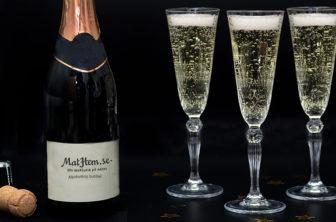 champagne bubbel nyår