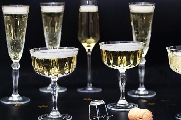 Bubbel champagne nyår