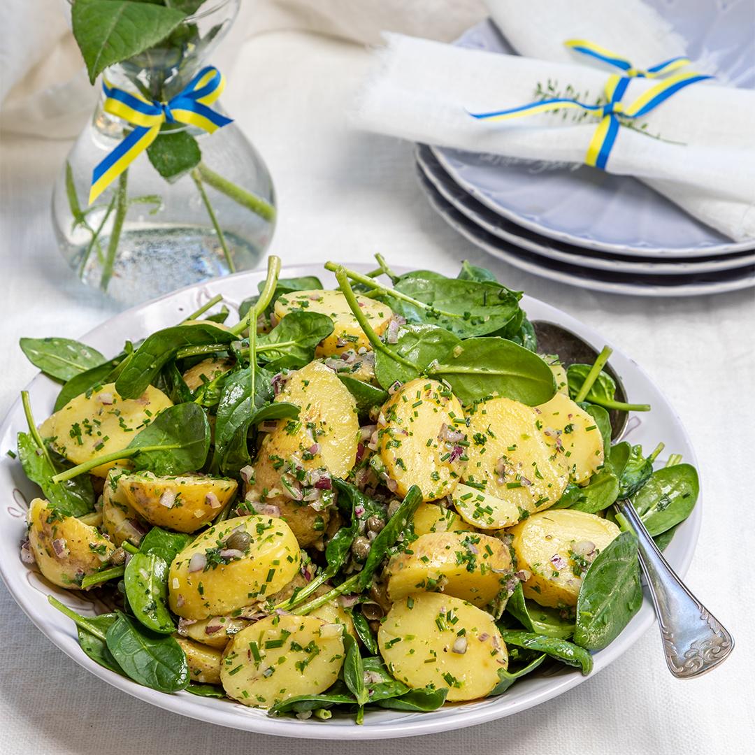 klassisk fransk potatissallad