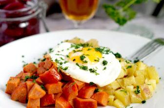 Fredrik Jonssons krögarpytt med stekt ägg