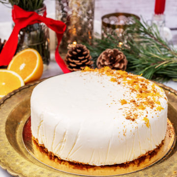 Fryst apelsincheesecake