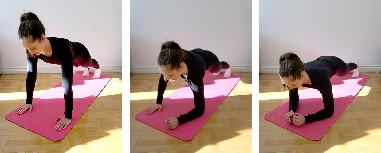 Gående Planka träning