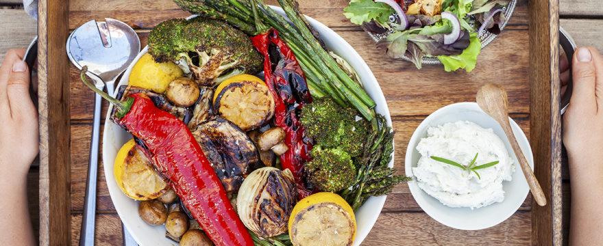 grillad grönsaksbricka