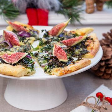 Grönkålspizza i slice