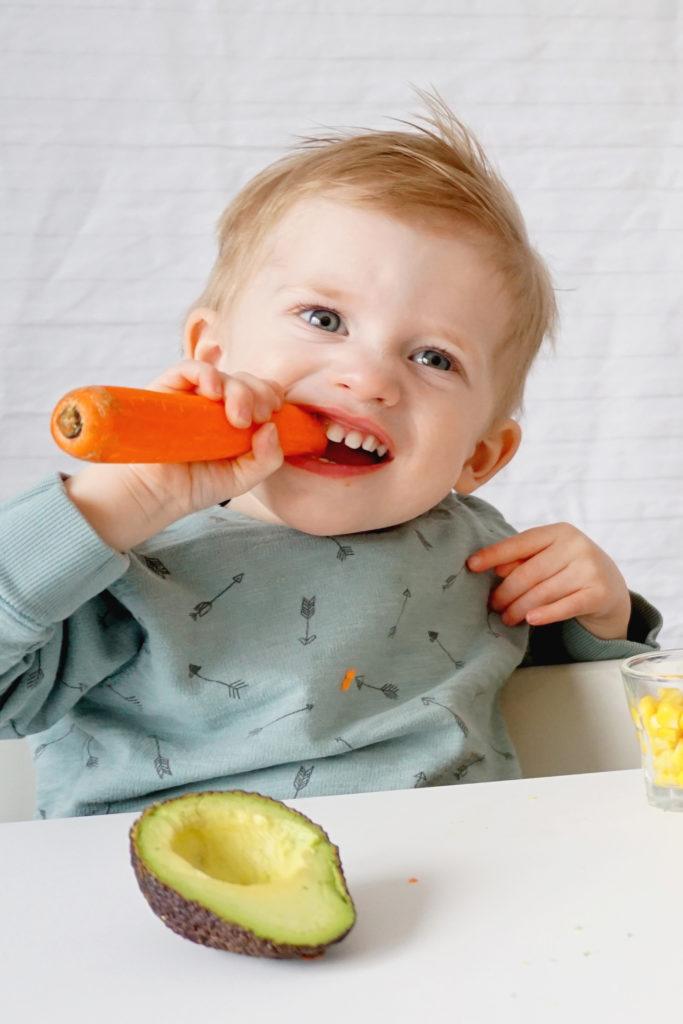 barn, grönsaker, morot