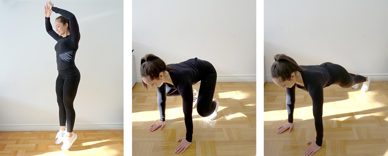 Halvaburpees träning