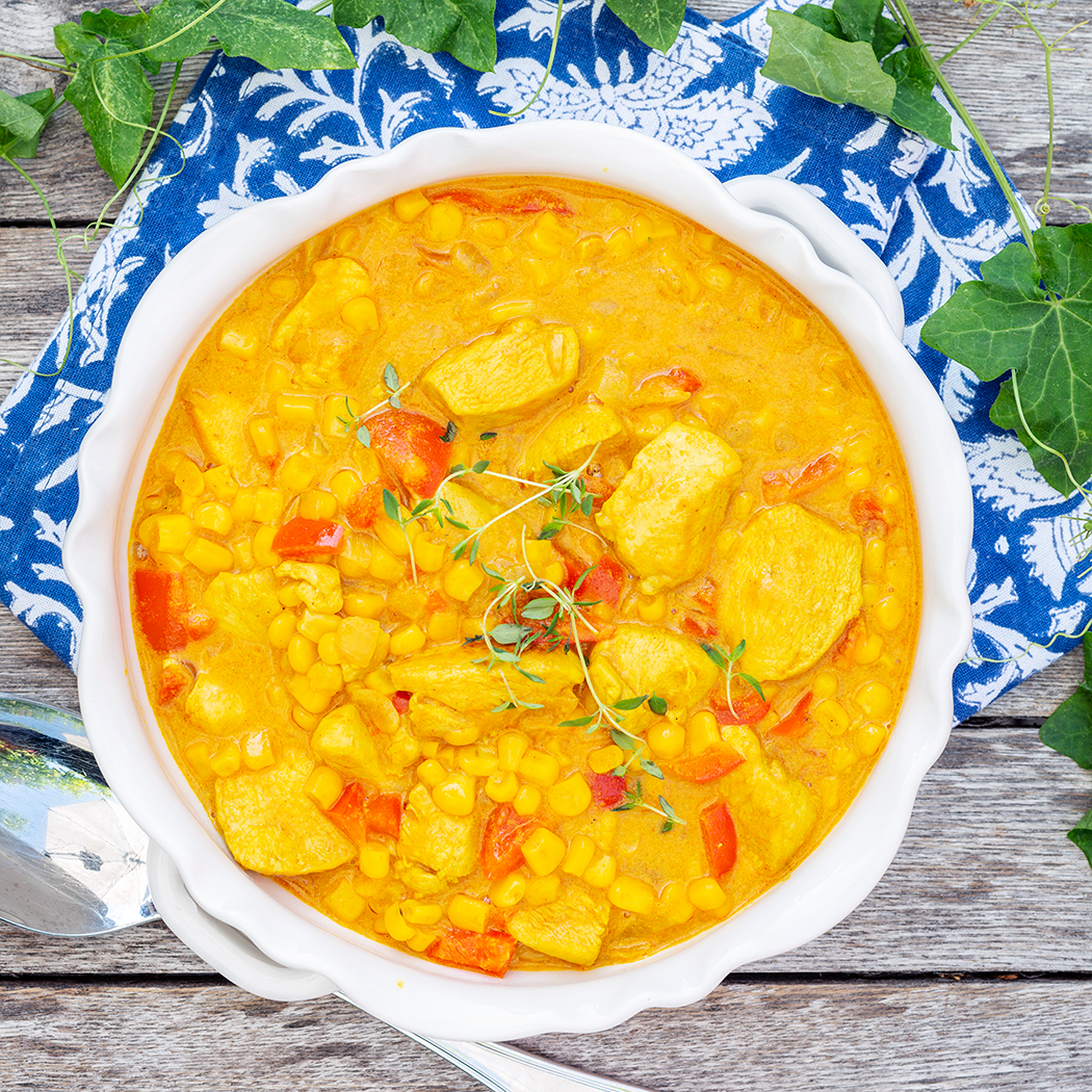 krämig kyckling curry