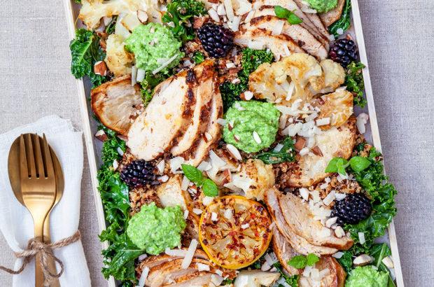 Kryddig quinoa med rostade grönsaker