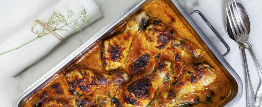 kyckling i curry- och tomatsås