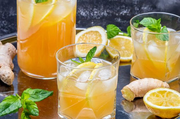 Lemonad med ingefära och citron