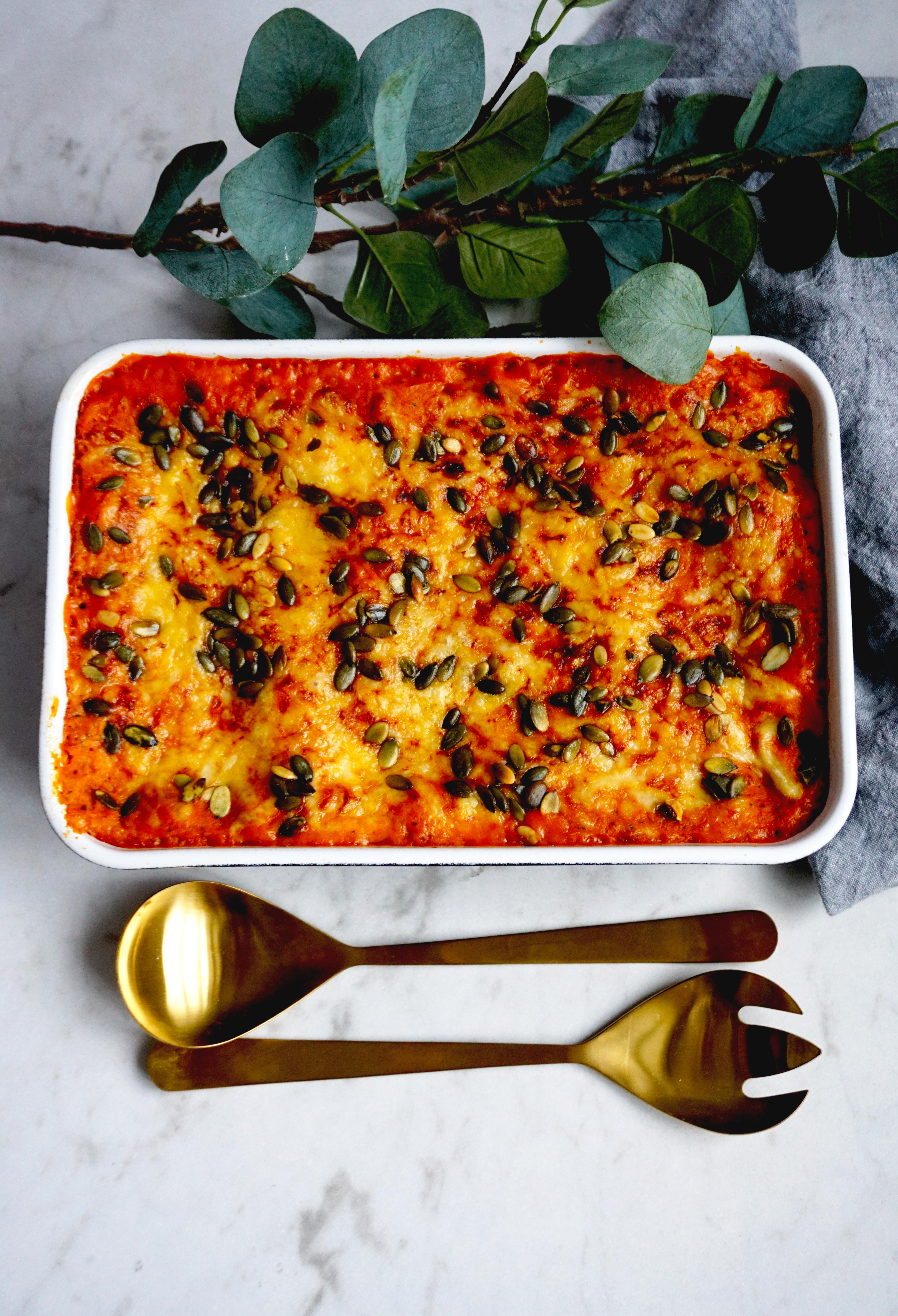 Barnvänlig vegetarisk lasagne