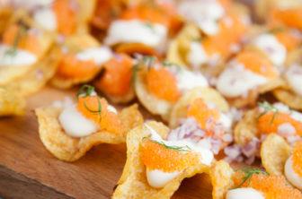löjrom på salta chips
