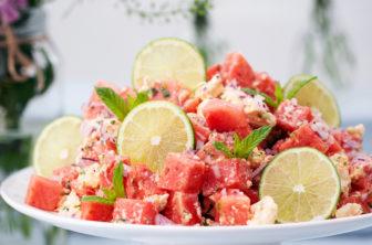 melon- och fetaostsallad