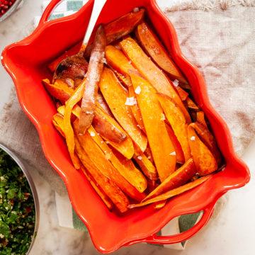 Patata Helwe vitlöksmarinerad sötpotatis