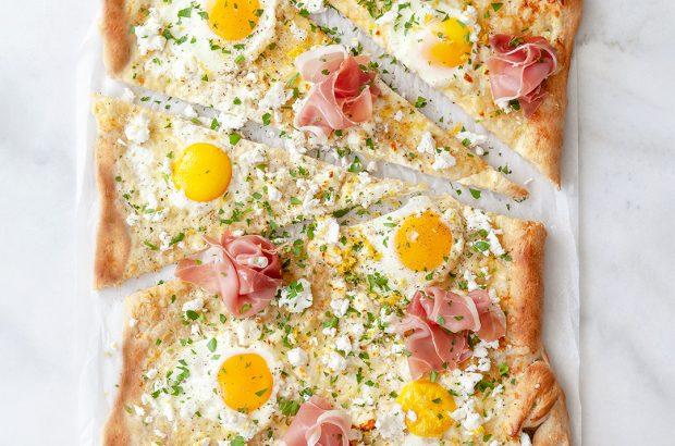 Pizza bianco med serrano