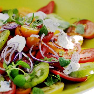 tomatsallad med getost