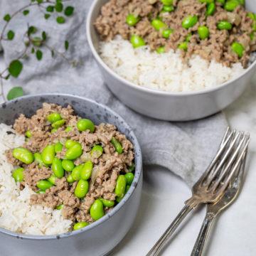 Snabb köttfärsgryta med sojabönor