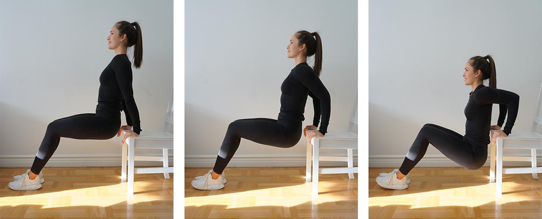 Tricepsdips träning