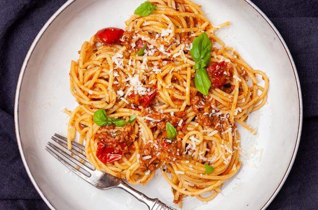 vegetarisk spaghetti bolognese