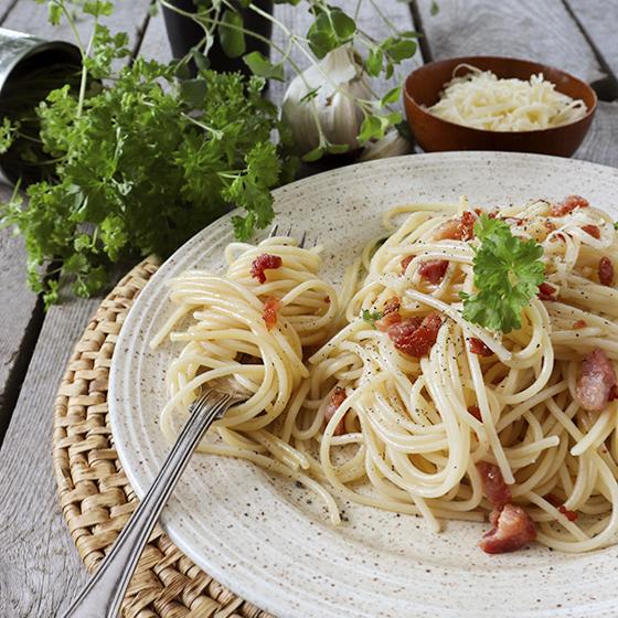 pasta carbonara enkelt recept