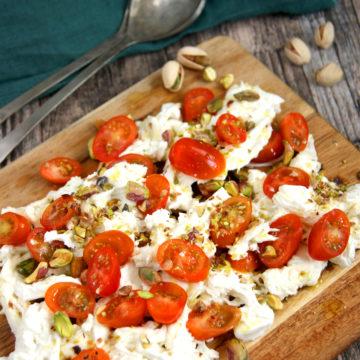 buffelmozzarella med pistagenötter