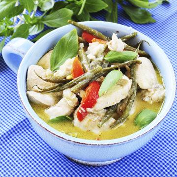 Enkel kyckling i grön curry