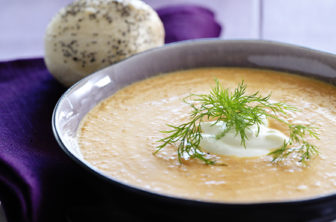 Morotssoppa falsk hummersoppa