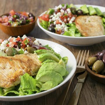 Grekisk kycklingsallad