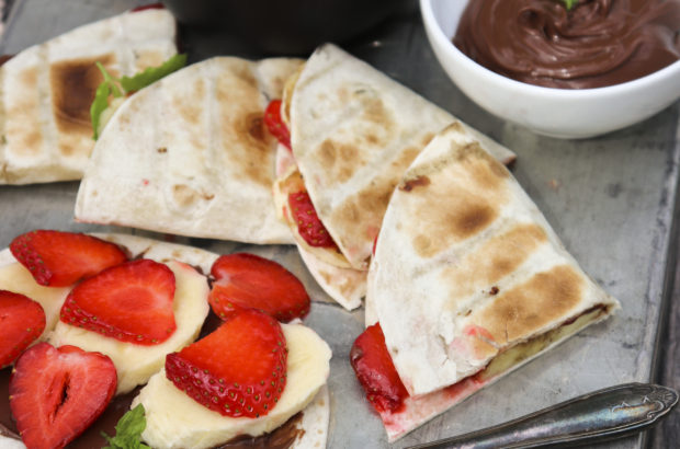 grillade nutellaquesadillas