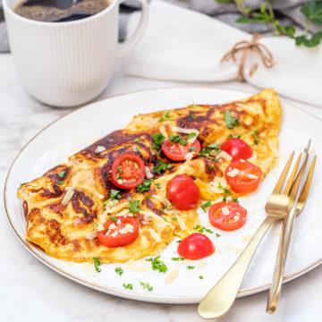 Krämig omelett med Västerbottensost
