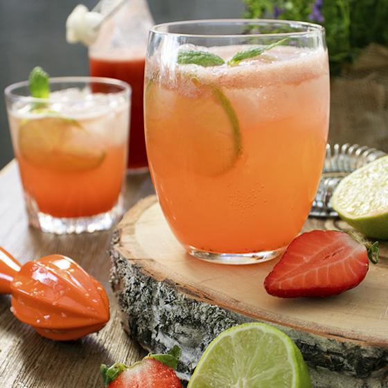 Rabarberdrink med gin