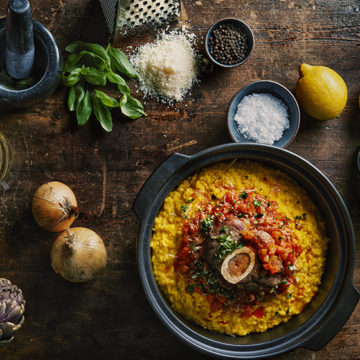 risotto osso buco kalvlägg