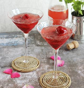 rosésorbet float