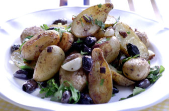 Sardellpotatis med oliver