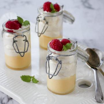 snabb efterrätt med lemon curd