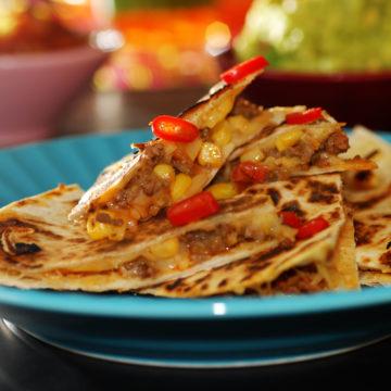 Quesadillas med köttfärs och majs