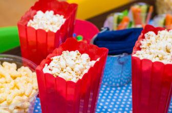 Tjejkväll, popcorn, barnkalas