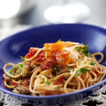 Spagetti med vongole musslor