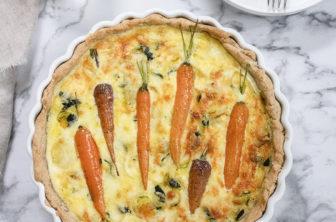 vegetarisk paj med morötter, morotspaj
